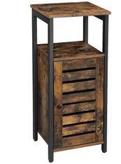 Petit meuble de rangement marron vintage industriel Persienne L 37 x H 81 x P 30 cm