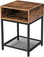 Petit meuble industriel brun rustique et noir Kaza L 40 x H 58 x P 40 cm