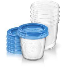 PHILIPS AVENT Pots de conservation 240 ml x 5 - Réutilisables