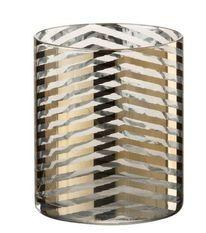 Photophore verre transparent et doré Ysarg