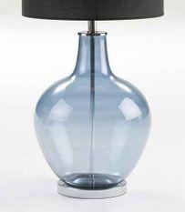 Pied de lampe en verre bleu Patricias