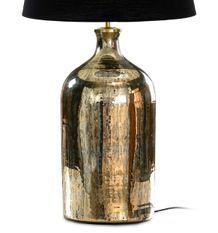 Pied de lampe verre doré vieilli Doux