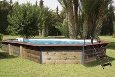 Piscine bois Calayan 890x420x129cm
