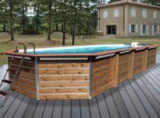Piscine bois Imbros 890x420x129cm