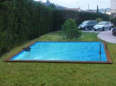 Piscine bois Solta 520x520x147cm