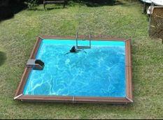 Piscine bois Trogir 370x370x129cm