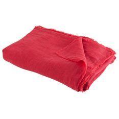 Plaid délavé tissu rouge Bothar