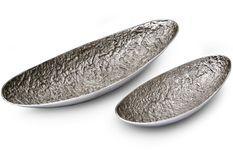 Plateau décoratif en métal Fila - Lot de 2