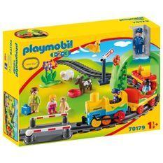 PLAYMOBIL 1 2 3 - 70179 - Train avec passagers et circuit