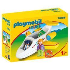 PLAYMOBIL 1 2 3 - 70185 - Avion avec pilote et vacanciere