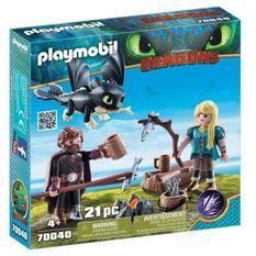 PLAYMOBIL 70040 - Dragons 3 - Harold et Astrid avec bébé dragon