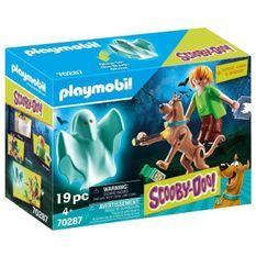 PLAYMOBIL 70287 - SCOOBY-DOO! Scooby & Sammy avec fantôme - Nouveauté 2020