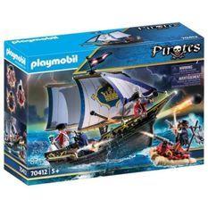 PLAYMOBIL 70412 - Les Pirates - Chaloupe des soldats - Nouveauté 2020