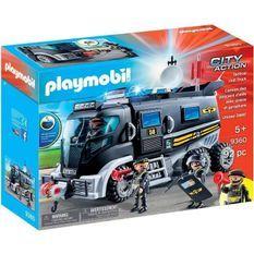 PLAYMOBIL 9360 - City Action - Camion policiers d'élite avec sirene et gyrophare - Nouveauté 2019