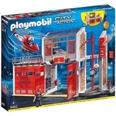 PLAYMOBIL 9462 - City Action - Caserne de pompiers avec hélicoptere - Nouveauté 2019