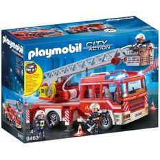 PLAYMOBIL 9463 - City Action - Camion de pompiers avec échelle pivotante - Nouveauté 2019