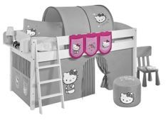 Pochettes rose Hello Kitty pour lit mezzanine enfant