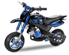 Pocket bike 49cc Sport Hobbit 6,5/6,5 bleu
