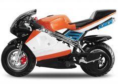 Pocket bike course PS88 49cc orange
