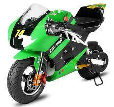 Pocket bike Rocket Deluxe PS50 49cc vert