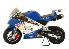 Pocket piste Racing 50cc bleu