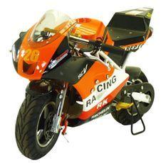 Pocket piste Racing 50cc orange