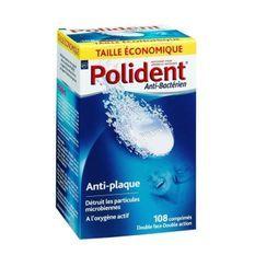 POLIDENT Boîte de 108 Comprimés anti-plaque dentaires et anti-bactériens