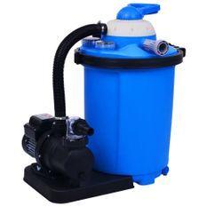 Pompe de filtration à sable avec minuterie 550W 50 Litres