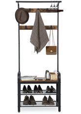 Porte manteau étagère industriel bois vintage