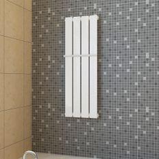 Porte-serviette 311mm + Radiateur panneau blanc 311mm x 900mm