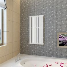 Porte-serviette 465mm + Radiateur panneau blanc 465 mm x 900 mm