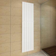 Porte-serviette 465mm+ Radiateur panneau blanc Double épaisseur