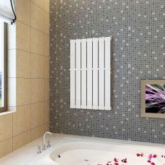 Porte-serviette 542mm + Radiateur panneau blanc 542mm x 900mm