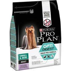 PRO PLAN Croquettes riche en dinde Sensitive Digestion 2,5kg - Formule sans céréales - Pour chien adulte de petite taille - 2,5 kg