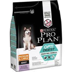 PRO PLAN Croquettes riche en dinde Sensitive Digestion Optidigest - Formule sans céréales - Pour chien adulte - 2,5 kg