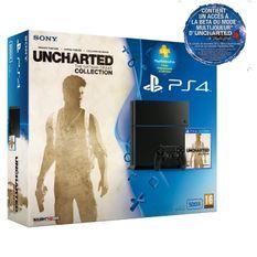 PS4 500 Go Noire + Uncharted Collection + PS + 3 mois + Inclut un accès la Beta d'Uncharted 4