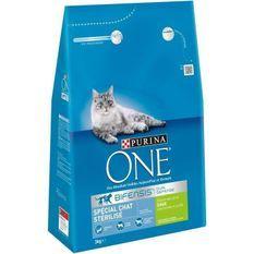 PURINA ONE Croquettes a la dinde et au blé - Pour chat adulte stérilisé - 3 kg