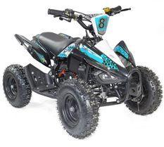 Quad 50cc noir et bleu 6