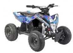 Quad électrique 1000W 36V Dynostar noir et bleu