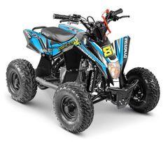 Quad électrique 1300W 48V lithium Staring noir et bleu
