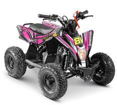Quad électrique 1300W 48V lithium Staring noir et rose