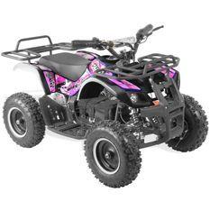 Quad électrique 800W Randonné rose et noir