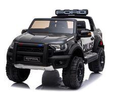 Raptor Police noir Voiture enfant électrique 2 places