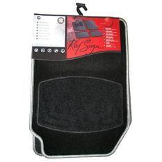 RED SIGN Tapis moquette SUN noir bordé silver x4