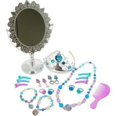 REINE DES NEIGES - Coffret bijoux et miroir sur pied