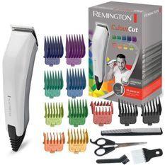 Remington HC5035 Coffret Cheveux Homme Color Cut, Tondeuse Cheveux 11 Sabots, Lames Auto-Affûtées Acier Inoxydable