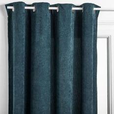 Rideau Cotelé - 140 x 260 cm - Bleu