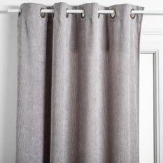Rideau Cotelé - 140 x 260 cm - Gris clair