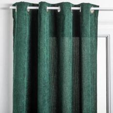 Rideau Cotelé - 140 x 260 cm - Vert cedre