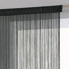 Rideau fil - 90 x 200 cm - Noir